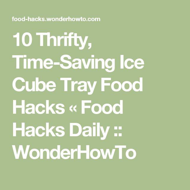 10 Thrifty, Time-Saving Ice Cube Tray Food Hacks « Food Hacks Daily :: WonderHowTo