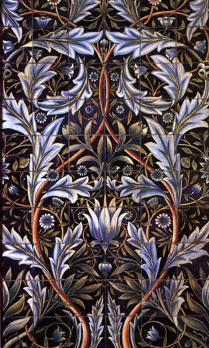 Arts and Crafts Movement This shows William Morris' use of textile design during this movement along with the use of warm colors.