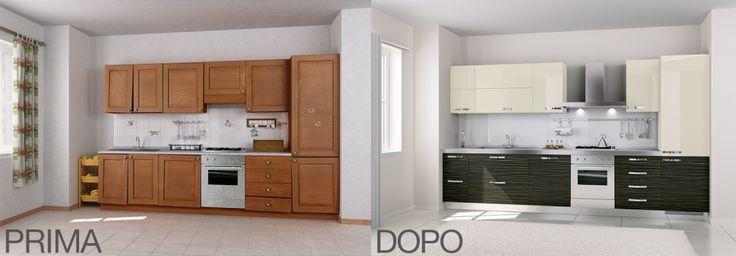 LA #CUCINA PRIMA E DOPO La cucina è stata rinnovata con nuove ante di Antarei