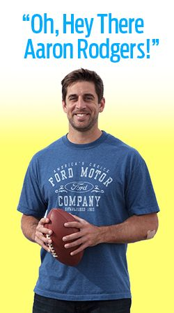 Oh, Hey There Aaron Rodgers! The best things in life are #free. Register to meet #AaronRodgers and win a #Ford #F-150! Where would you take these two on a date? #date #Quarterback #Greenbay #football #profootball #touchdown #tackle #sweepstakes #win #car #free #f150 #tough #promotion #giveaway #WIsports #Wisconsin #sports #drive