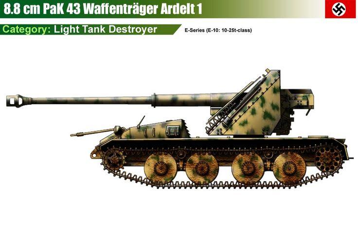 Waffenträger Ardelt I mit 88 mm Pak 43