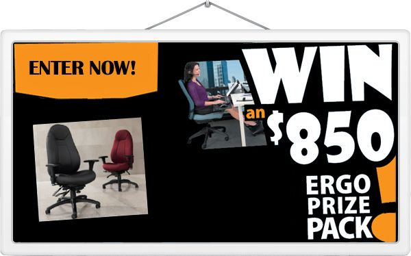 Enter our #FallFurniture #contest for a chance to win an ergonomic prize pack! Contest runs until November 30, 2014.