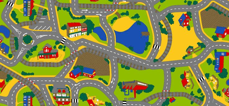 Associated Weavers Playtime Traffic Playtime Carpet 100 x 165 cm: Amazon.co.uk: Kitchen  Home