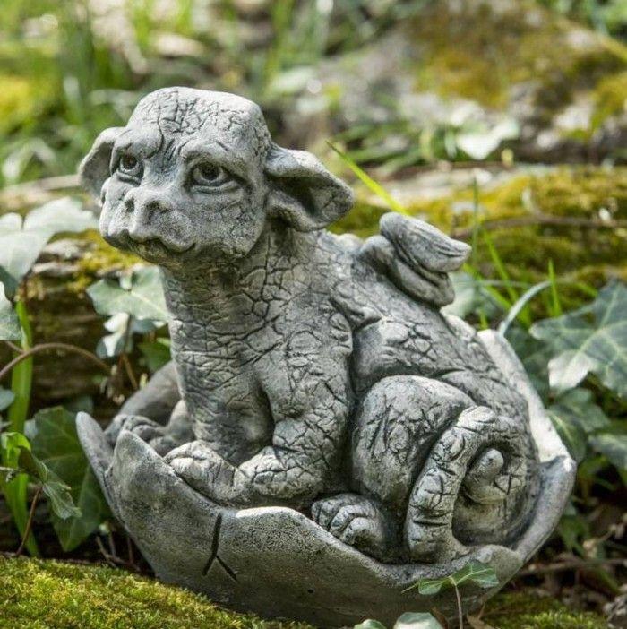 Little Dragon Garden Statue