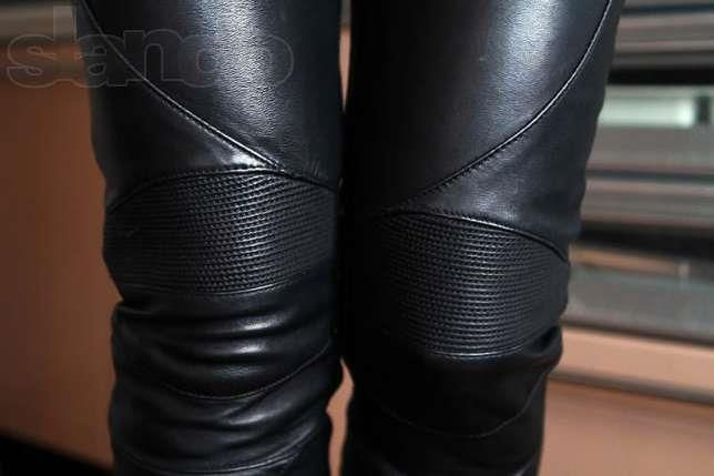Кожаные штаны женские 40размер