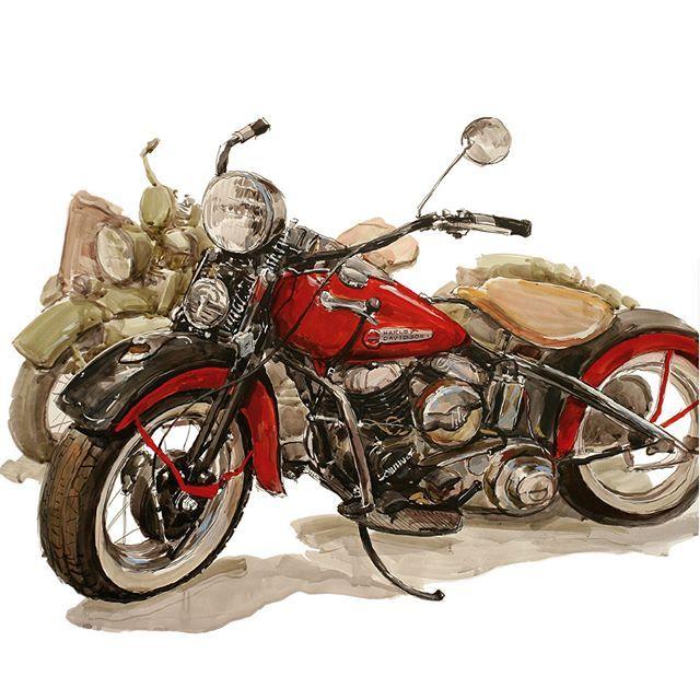 Картинки декупаж мотоциклы