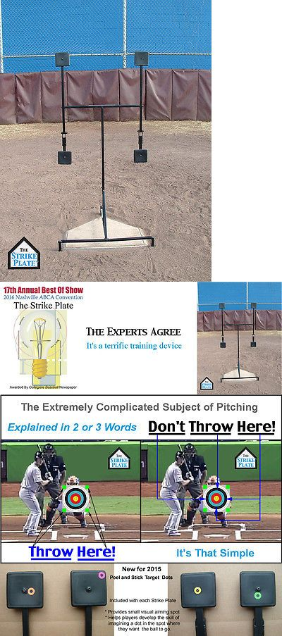 Other Baseball Training Aids 181332: The Strike Plate® Baseball Pitching Trainer BUY IT NOW ONLY: $144.99
