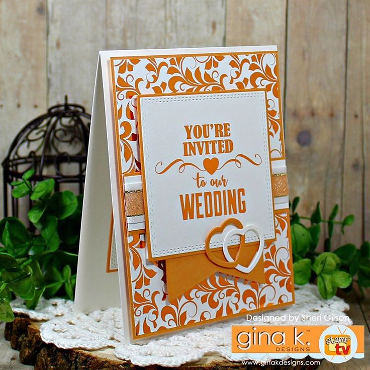 Wedding Invite by PaperCrafty Cards and