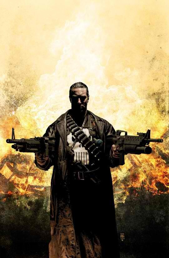 The Punisher - Why? because even though it's not true, somewhere in my mind I can't shake the thought that the guy with the most guns at the end of the day is going to win, and if he is on my side, the better.