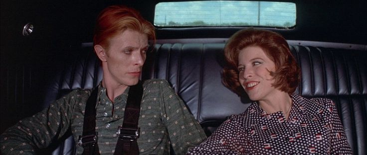 David Bowie and Candy Clark in TMWFTE