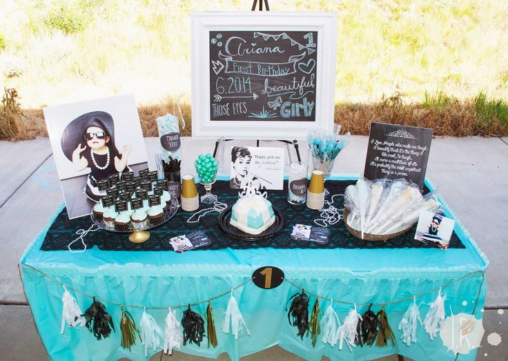 Audrey Hepburn themed birthday bash is classy and playful!