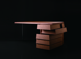 http://www.archipanic.com/cartesia-desk/ Cartesia Desk - Each drawer can open in 2 directions