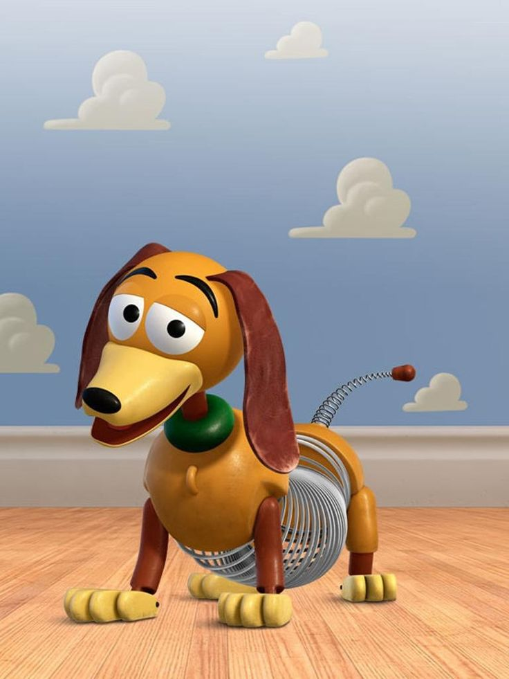 Slinky from Toy Story- this here lil fella needs to go outside for some PRIVATE TIME