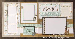 Create with Liz: Oh Deer! Scrapbook Layouts