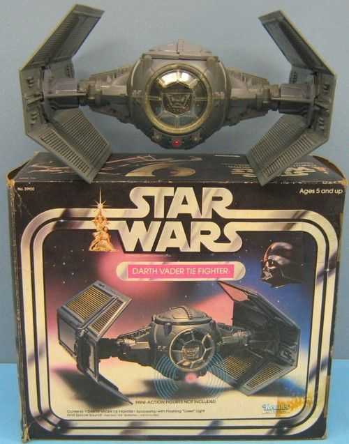 Kenner 1977 Star Wars Darth Vader Tie Fighter. Had it. I remember the wings popped off when you pressed buttons to simulate damage lol.