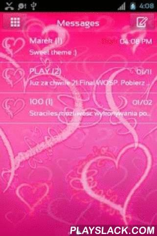 Romantic Pink Theme For GO SMS  Android App - playslack.com ,  GO SMS Pro Romantic PinkNu voor Valentijnsdag , en niet alleen de unieke en mooie app voor het verzenden van tekstberichten . Uw SMS-berichten niet langer te meer saai of triest genoeg dat ze in een mooie , roze , romantisch gewaad zijn. Toepassing vrolijken droevige sms , hart overweging herinneren dat geluk altijd onafhankelijk worden bereikt van het moment . Romantische thema is voor elke persoon die is romantisch en houdt…