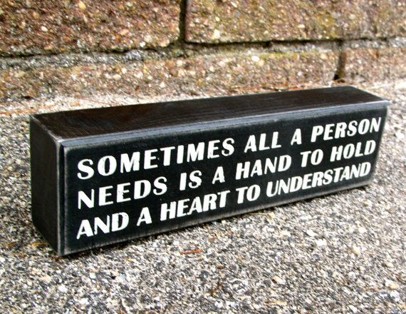 Painted Wooden Box Sign Hand to Hold by WordsofWisdomNH on Etsy, $10.00