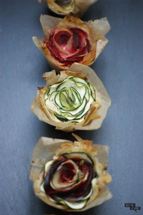 Sag's mit Blumen: Filoteig-Gemüse-Blüten - Meet me at home                                                                                                                                                                                 Mehr