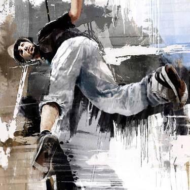 "Saatchi Art Artist Serj Fedulov; Painting, ""From the series Street Survivors 9"" #art"
