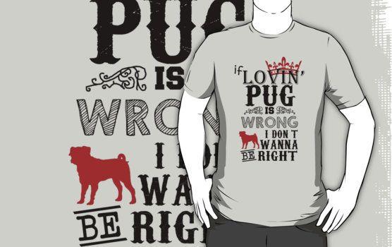 Loving Pug  Unsere Hunde-T-Shirts sind perfekt Hunde zu halten von Abwurf oder eine Erklärung auf jeden Fall machen Sie teilnehmen.  http://www.redbubble.com/de/people/eaglestyle/works/24967591-loving-pug
