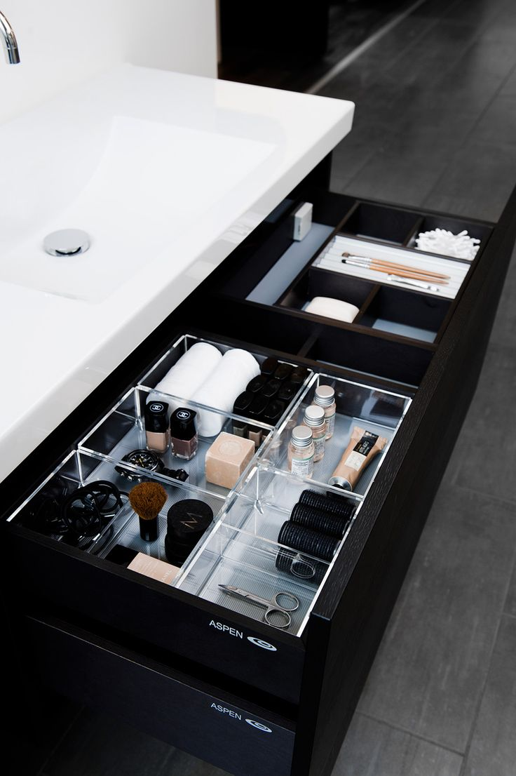 vanity drawer in the bathroom