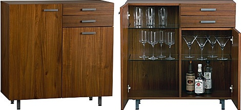 This would work well in our home. We may need to invest in a lock to keep the children out though.: Minis Bar, Cb2 Acacia, Cocktails Bar, Men Offices, Design Trends, Acadia Minis, Cb2 S Acacia, Acacia Minis, Bar Cabinets
