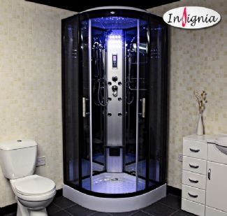 Insignia GT8721 900mm x 900mm Quadrant Hydro Shower Cabin Unit Enclosure