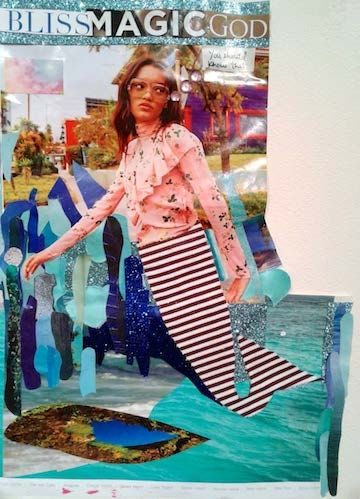 Damali Abrams mermaid  Dialogues in Drawing - Exhibitions - Jenkins Johnson Gallery