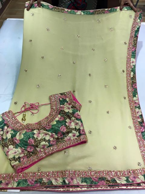 FANCY SAREES PAIRED WITH SEMISTICHED DESIGNER BLOUSES.  Buy Online Designer Fancy Sarees   Elegant Fashion Wear