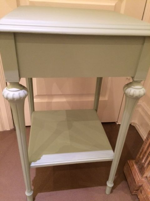 Painted Side Table in 'Brook' by Fusion Mineral Paint!