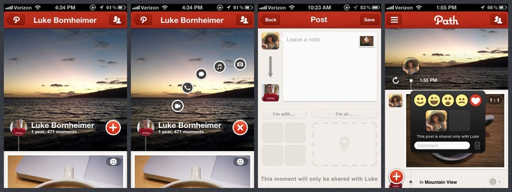 Path Private 1:1 Sharing: Full Private Share Flow, Path Private, Private 1 1, 1 1 Sharing, Ux Ui Design, Mobile Design