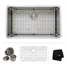 32 inch Undermount Single Bowl 16 gauge Stainless Steel Kitchen Sink
