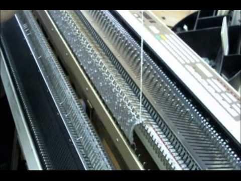 Перенос петель ажурной кареткой. - YouTube