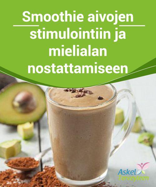 #Smoothie aivojen stimulointiin ja mielialan #nostattamiseen  Tämä smoothie stimuloi aivoja ja nostattaa energiatasoa. Se on myös hyvin täyttävä, maistuva juoma, joka pitää vatsan kylläisenä lounaaseen saakka.