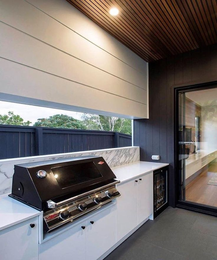 Love this application of Scyon cladding by @bighouselittlehouse. Such a clean design.  #australianarchitecture #architecture #cladding #scyonwalls #bbq