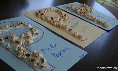 LETTER VAN DE WEEK P van popcorn