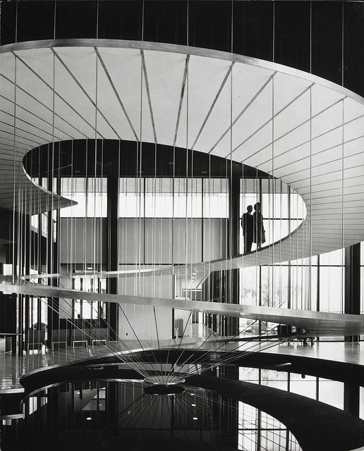 Convair Astronautics, San Diego, architect Pereira Luckman, by Julius Shulman 1958
