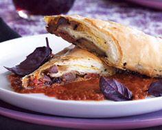 Mediterranean Eggplant & Tomato Strudel