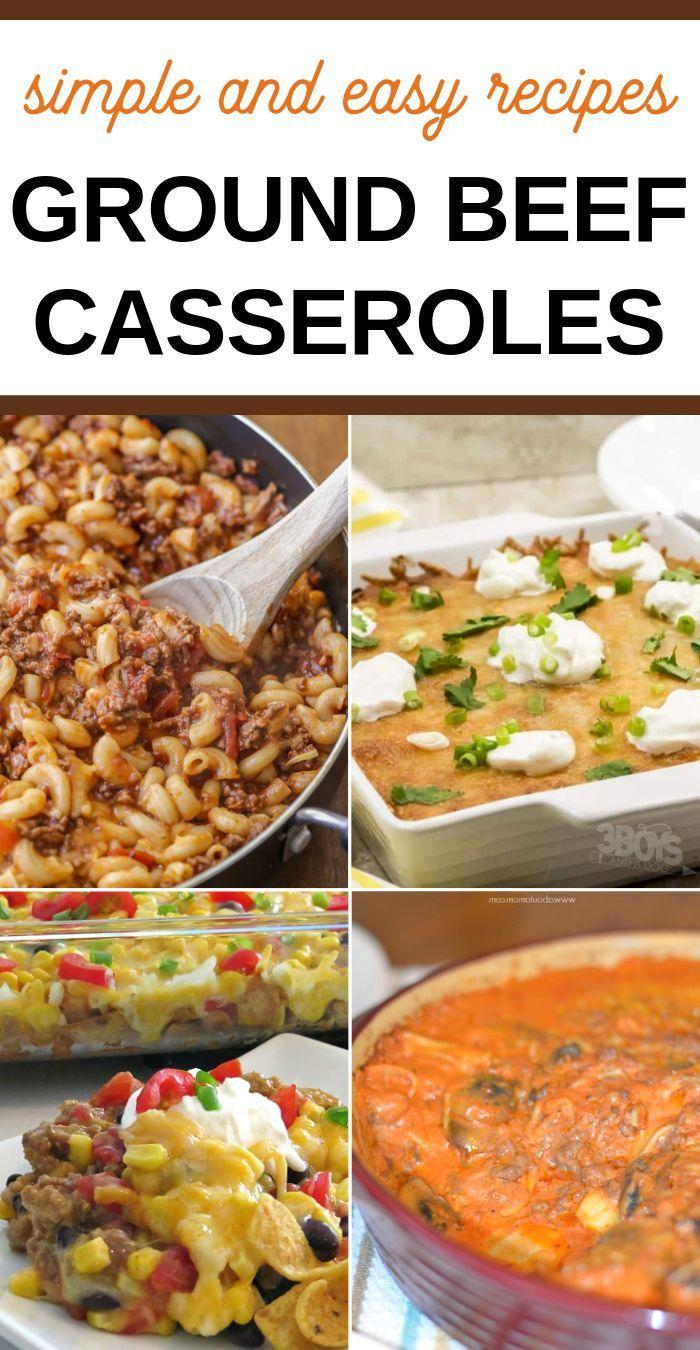 Over 25 Hamburger Meat Casserole Recipes Ground Beef Recipes Easy Hamburger Meat Easy Casserole Recipes