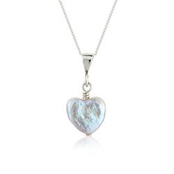 heart shaped pearl pendant £17