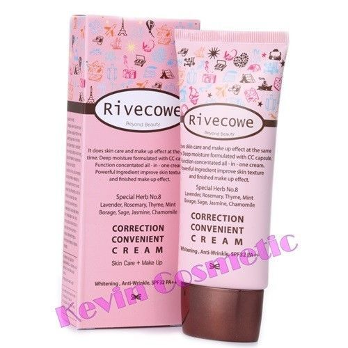 Rivecowe  CC CREAM - 3 EFFECT - WHITENING, ANTI-WRINKLE, UV protection