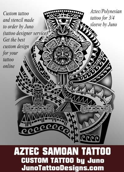 342 best images about tattoo on pinterest for Aztec mural tattoos