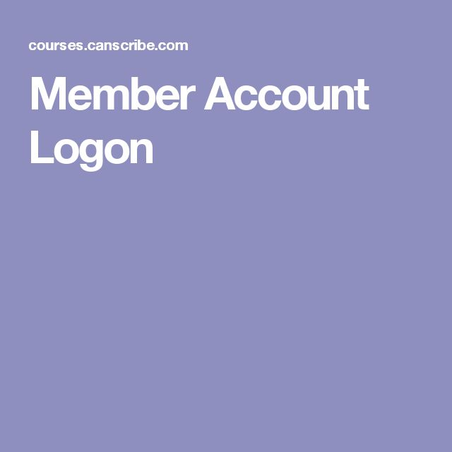 Member Account Logon
