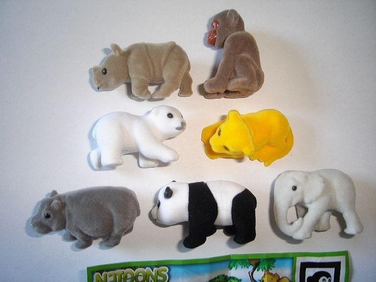 Kinder Surprise Set Natoons Wild Animals Babys Felt 2010 Figures Collectibles | eBay
