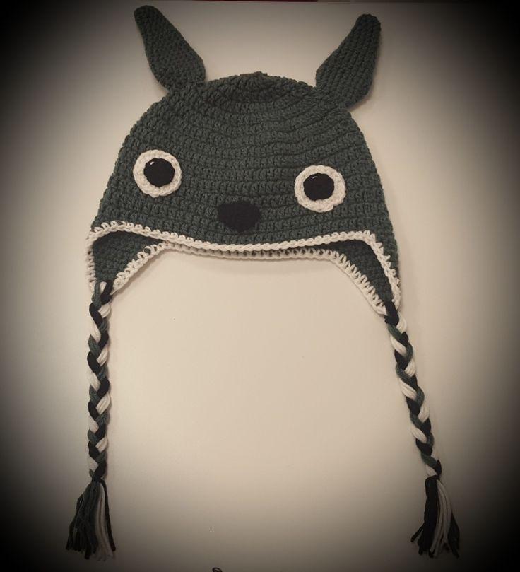 Gorro Totoro a crochet - T: adulto