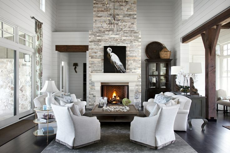 Best 119 TWO STORY GREAT ROOMS ideas on Pinterest | Living spaces ...