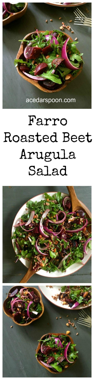 Farro Roasted Beet Arugula Salad | Recipe | Arugula Salad, Roasted ...