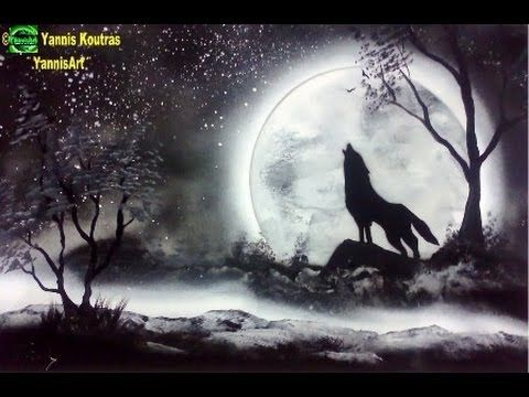 Wolf - Spray Paint Art –Tutorial - Beginners