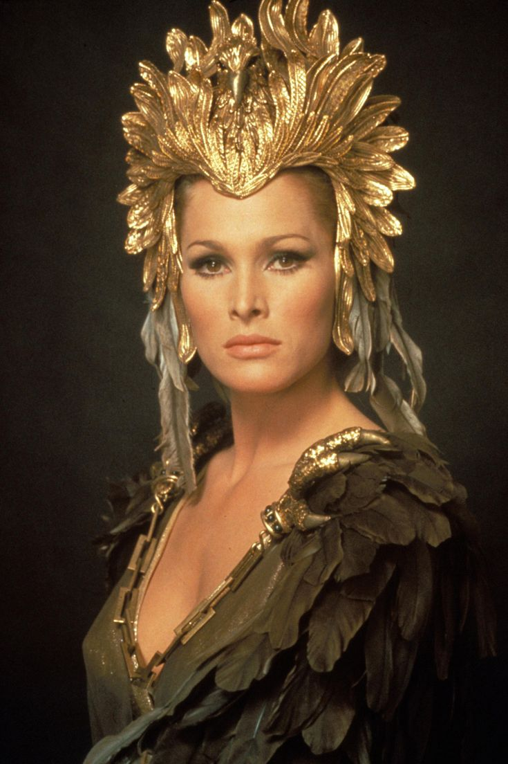 Ursula Andress, in She.  This iconic film outfit was one which originally fired my interest in costume.  The amazing detail and flow of the garment, and the detail in the design of the headdress really helped make the character.
