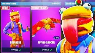 New Beef Boss Durr Burger Skin Gameplay In Fortnite New